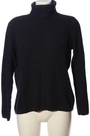 H&M Basic Rollkragenpullover schwarz Casual-Look