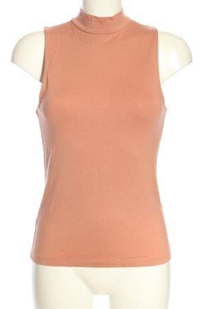 H&M Basic Top met rolkraag nude casual uitstraling