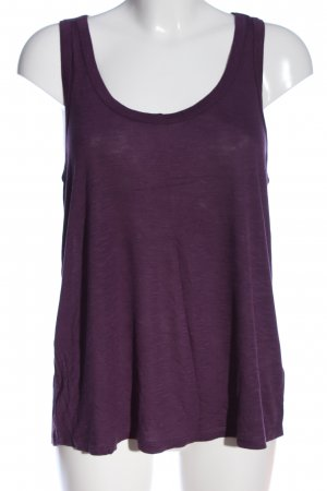 H&M Basic Rugloze top lila casual uitstraling