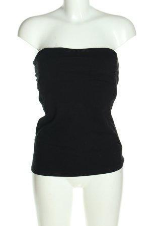 H&M Basic Rugloze top zwart casual uitstraling