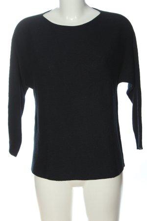 H&M Basic Rundhalspullover schwarz Casual-Look