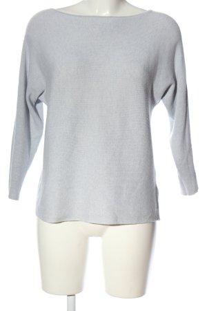 H&M Basic Rundhalspullover hellgrau Casual-Look