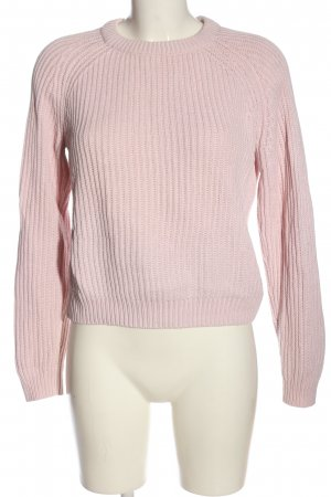 H&M Basic Rundhalspullover pink Casual-Look