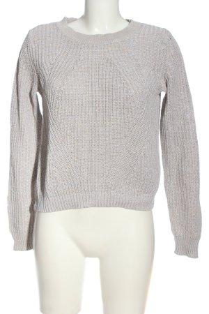 H&M Basic Sweter z okrągłym dekoltem jasnoszary W stylu casual
