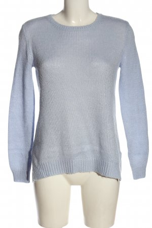 H&M Basic Rundhalspullover blau Casual-Look
