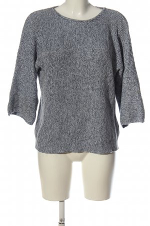 H&M Basic Rundhalspullover hellgrau meliert Casual-Look