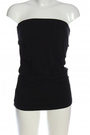 H&M Basic Top bandeau negro look casual