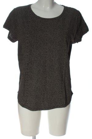 H&M Basic Schlupf-Bluse schwarz-wollweiß Allover-Druck Casual-Look