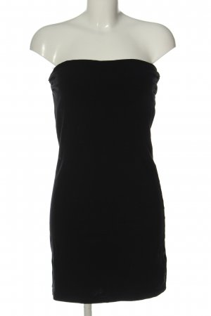 H&M Basic Abito senza spalle nero stile festa