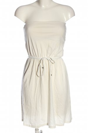 H&M Basic Vestido strapless blanco puro look casual