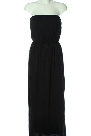 H&M Basic schulterfreies Kleid schwarz Elegant