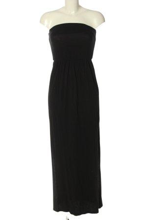 H&M Basic schulterfreies Kleid schwarz Casual-Look