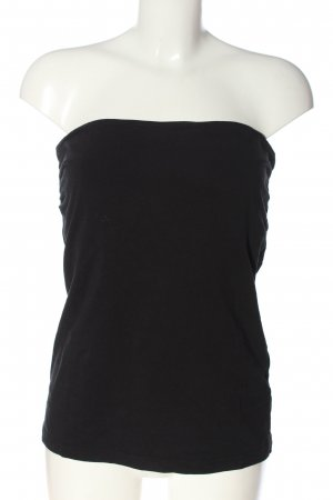 H&M Basic Top sin hombros negro look casual