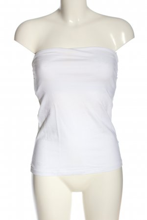 H&M Basic schulterfreies Top weiß Casual-Look