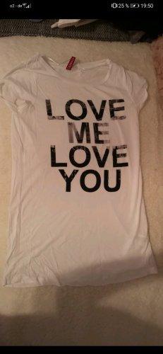 H&M Sweatshirt blanc-noir
