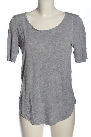H&M Basic-Shirt hellgrau meliert Elegant