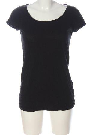 H&M Basic-Shirt schwarz Casual-Look