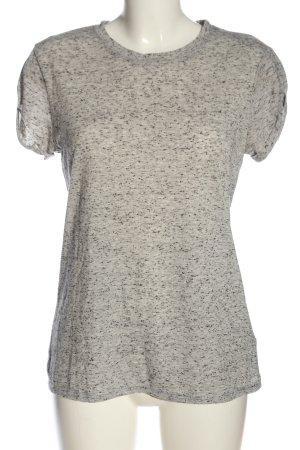 H&M Basic-Shirt hellgrau-schwarz meliert Casual-Look