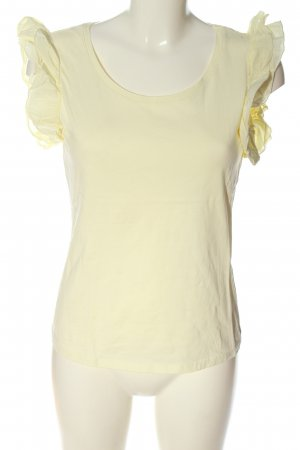 H&M Basic-Shirt blassgelb Casual-Look