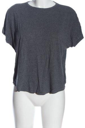 H&M Basic-Shirt hellgrau meliert Casual-Look