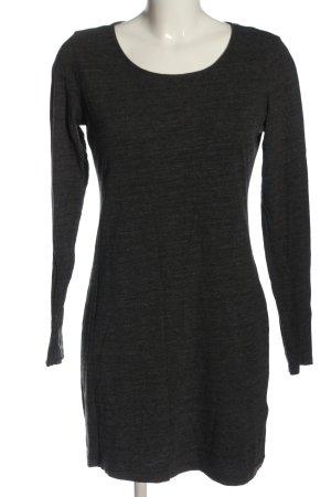 H&M Basic Shirtkleid hellgrau meliert Elegant