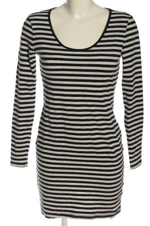 H&M Basic Sukienka o kroju koszulki czarny-jasnoszary Na całej powierzchni