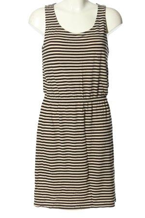 H&M Basic Robe t-shirt crème-noir motif rayé style décontracté
