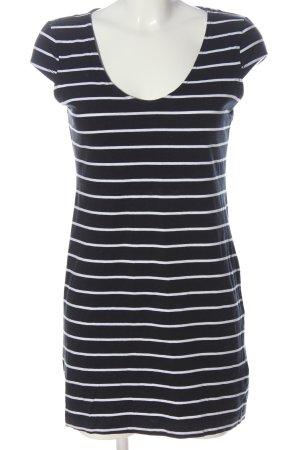 H&M Basic Shirt Dress black-white striped pattern casual look