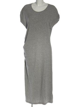 H&M Basic Vestido estilo camisa gris claro moteado look casual