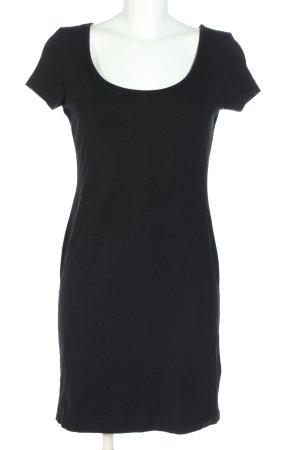 H&M Basic Shirtkleid schwarz Casual-Look