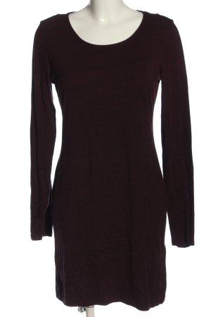 H&M Basic Shirtkleid rot meliert Casual-Look