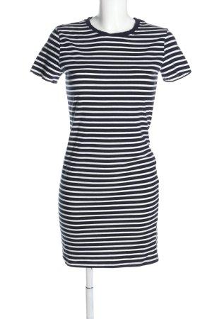 H&M Basic Shirtkleid schwarz-weiß Allover-Druck Casual-Look