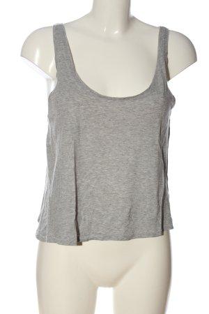 H&M Basic Top de tirantes finos gris claro moteado look casual