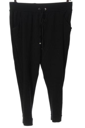 H&M Basic Stoffhose schwarz Elegant