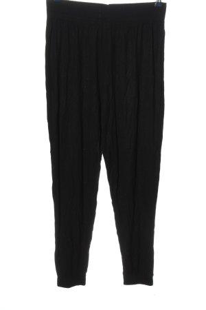 H&M Basic Stoffhose schwarz Casual-Look