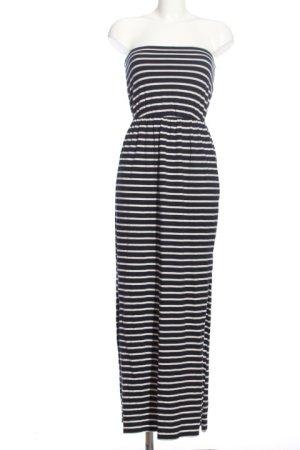H&M Basic Strandkleid schwarz-weiß Streifenmuster Casual-Look