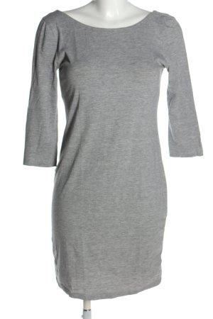 H&M Basic Stretchkleid hellgrau meliert Casual-Look