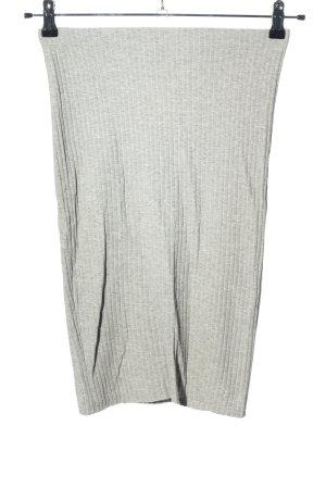 H&M Basic Falda stretch gris claro estampado a rayas look casual