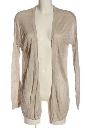 H&M Basic Strick Cardigan wollweiß meliert Elegant