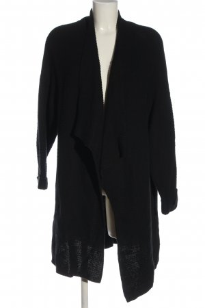 H&M Basic Strick Cardigan schwarz Casual-Look