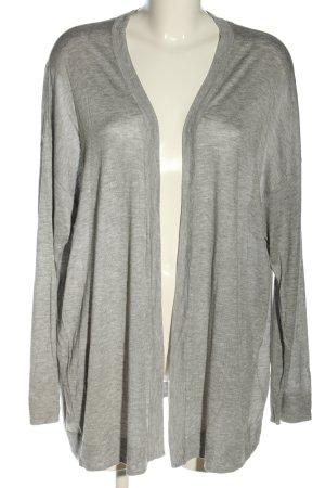 H&M Basic Strick Cardigan hellgrau meliert Casual-Look