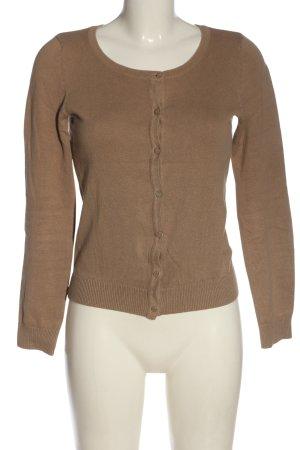 H&M Basic Strick Cardigan braun Casual-Look