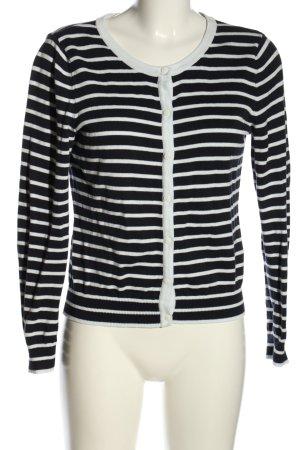 H&M Basic Strickjacke schwarz-weiß Allover-Druck Casual-Look