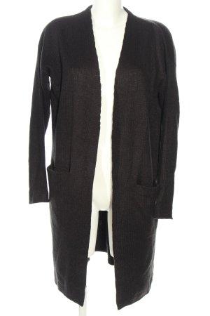 H&M Basic Abrigo de punto marrón punto trenzado look casual