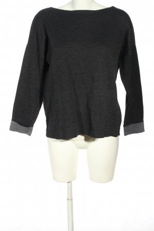 H&M Basic Strickpullover hellgrau Casual-Look