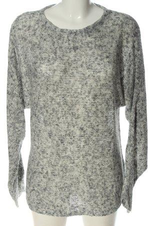 H&M Basic Strickpullover hellgrau meliert Casual-Look