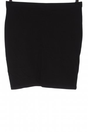 H&M Basic Knitted Skirt black casual look