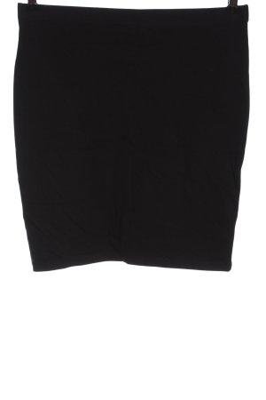 H&M Basic Strickrock schwarz Casual-Look