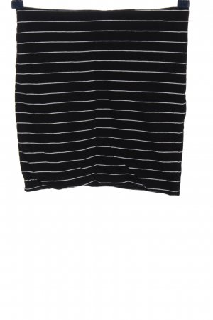 H&M Basic Knitted Skirt black-white striped pattern casual look