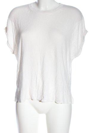 H&M Basic Strickshirt weiß Casual-Look